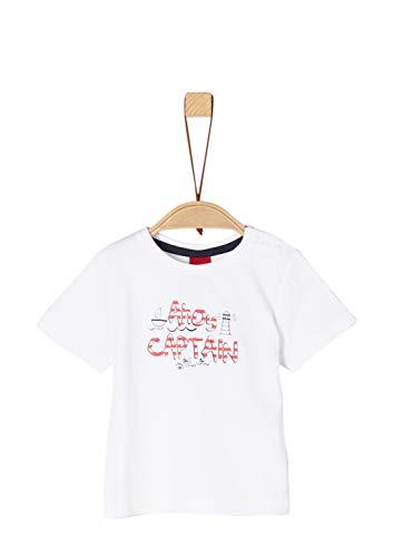 s.Oliver Baby-Jungen 65.903.32.5437 T-Shirt Weiß (White 0100), Herstellergröße: 80