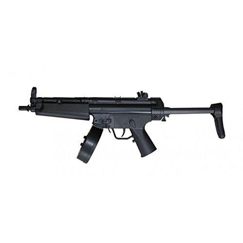 SET: Softairgewehr D95 mit Schiebeschaft und Trommelmagazin AEG ELEKTRISCH Gewehr unter 0,5 Joule + G8DS® Zielscheibe (Sturmgewehr Elektrisches Softair)