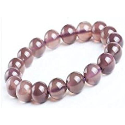 OUYANG Naturale colore viola calcedonio charm bracelet , 8mm - Resina Charm