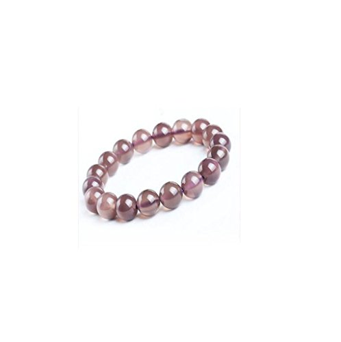 AIURLIFE Naturale colore viola calcedonio charm bracelet , 10 - Resina Charm
