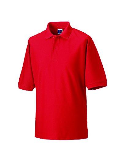 Jerzees Pique polo shirt-Camicia Unisex - Adulto Uomo Rosso