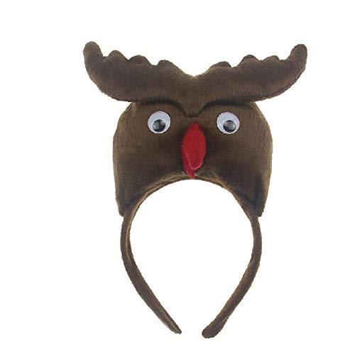 Eulen-Stirnband handgefertigt Plüsch für Weihnachten Halloween Ostern Festival