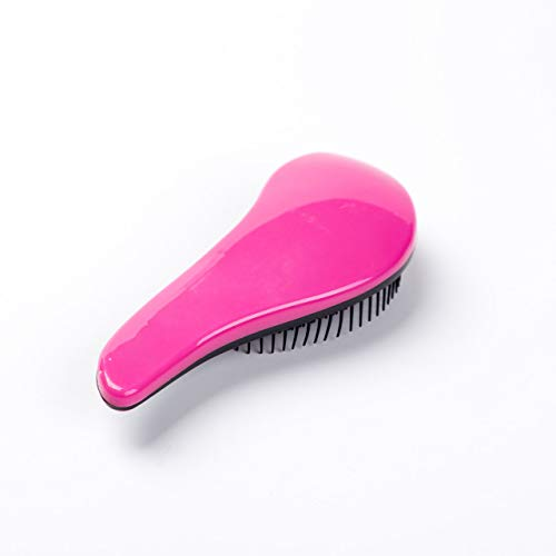 Oyria Handle Tangle Original Detangling Comb Scalp Massage Shower Hair Brush Salon Styling Tamer Women, Men, Girls & Boys - Detangle Knots Easily - Hot Pink