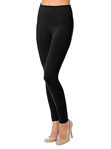 Koroshni Women\'s Cotton Lycra Hot Leggings (Gs_Winter_Legging_Black_Free Size)