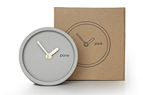Orologio da tavolo a pavé minimal calcestruzzo, bel design scandinavo con lancette in rame
