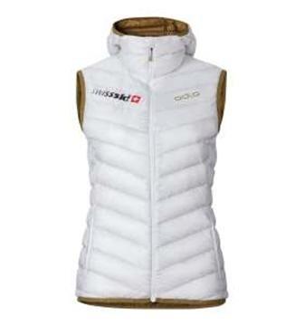 Odlo Air Cocoon Swisski Fan Vest Women white-dull gold