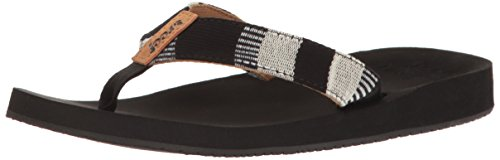 reef-damen-cushion-threads-tx-sandalen-schwarz-black-white-385-eu