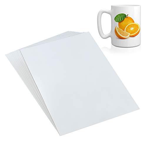 WXJ13 - Fogli di carta trasparente per decalcomanie ad acqua, formato A4, per stampante a getto d'inchiostro, trasferimento ad acqua, trasparente