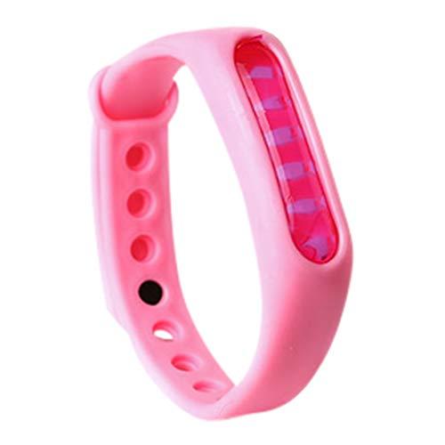 Mückenschutz Armband, Repellent Repeller Armband Anti Moskito Insektenschutzmittel Camping Outdoor für Kinder Erwachsene Anti Mosquito Bracelet Reusable Wristband (Rosa)
