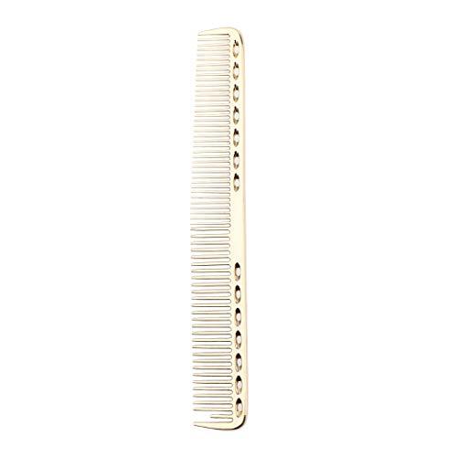 IPOTCH Aluminium Haarkamm Frisierkamm, Hitzbeständig und antistatisch Schneidekamm Haarschneidekamm - Luxus Golden