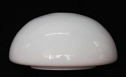 LMS Leuchten Beleuchtungsglas D-18 Opal-Weiss H 11 cm/Ø 25 cm Lampenschirm Glas Jugendstil Art-Deco Landhaus klassisch