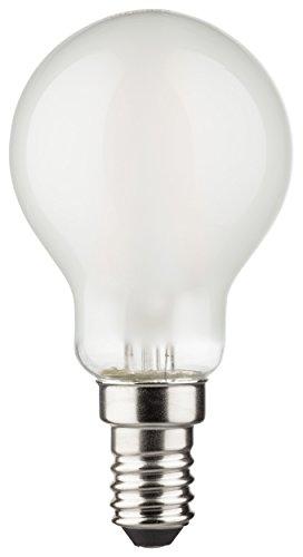 Müller-Licht Ampoule LED Forme Goutte Filament 2 W (25 W) E14 250 lm 2700 K mat ml400031, Verre Plastique, blanc, E14, 2 wattsW