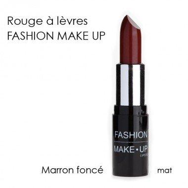 Fashion Make-Up FMU1200119 Rouge à Lèvres N°19 Marron Foncé Mat