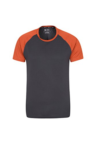 Mountain Warehouse Endurance Herren-T-Shirt - Atmungsaktives Allwetter-T-Shirt, UV-Schutz mit LSF30, Leichtes Hemd, Bequemes und schnelltrocknendes Oberteil Gebranntes Orange Small