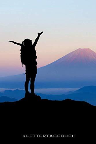 Klettertagebuch: Klettern, Freiklettern, Bouldern, Notizbuch für Kletterfans, Boulderfans, Kletterrouten notieren, Notizbuch, Wandernotizen, ... hellgrau liniert und Blankoseiten für Skizz
