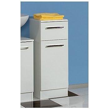 Trendteam armadio laterale da bagno bianco lucido amazon for Armadio bagno bianco