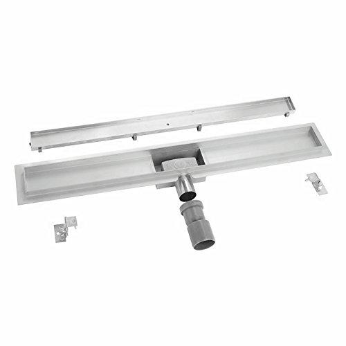 Preisvergleich Produktbild 70cm befliesbare Duschrinne mit Bodenbefestigung (4 Modellvariationen, 12 Abdeckungen, Größen 50cm - 120cm), DU22C07K