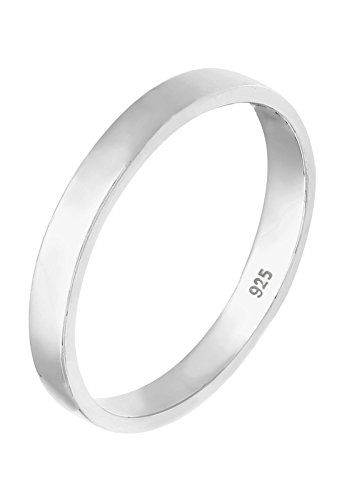 Elli Damen-Ring Basic Verlobungsring Zeitlos Filigran silber 925 Gr. 54 (17.2) 0 605231911 54