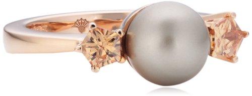 Joop Damen-Ring Silber vergoldet Perlmutt Zirkonia Gwyneth braun Gr.55 (17.5) JPRG90593B550