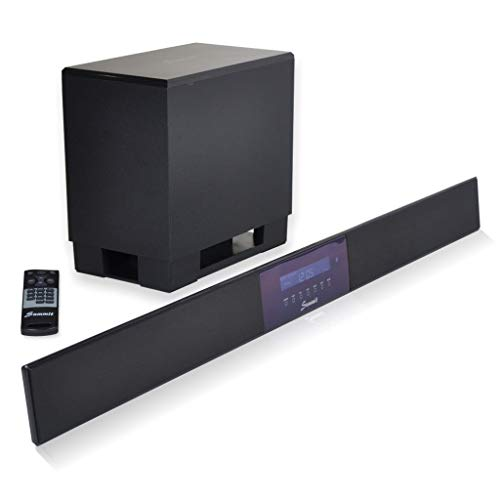 Summit Soundbar A50-1000 - High End Yamaha Digital-Sound-Prozessor 5.1-140W (Wireless Subwoofer, Fernbedienung, Bluetooth) - Tv Wireless Sound Bar-lautsprecher