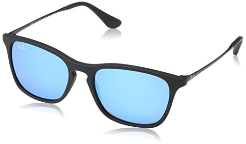 Ray-Ban Unisex Sonnenbrille Rj9061s, (Gestell: Schwarz, Gläser: Blau verspiegelt 700555), Medium (Herstellergröße: 49)