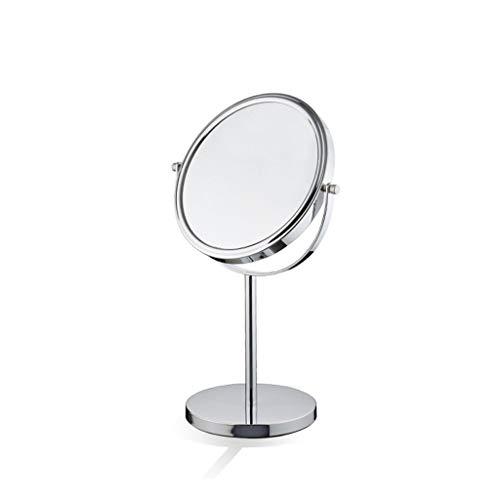 Kosmetikspiegel, Vanity Schminkspiegel Doppelseitig 3-Fach Vergrößerung Tischspiegel Unbeleuchteter Reisespiegel Chrom Silber (Size : 8 inch) - Schwanenhals Vanity Licht
