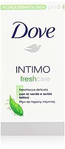 Dove - Intimo, Detergente pH5, con tè verde e acido lattico - 250 ml