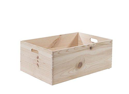 Compactor Boîte Moyenne Personnalisable en pin Naturel Beige