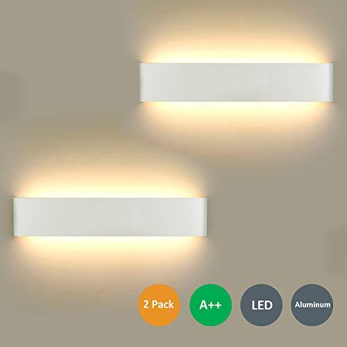 Lámpara de Pared LED 2 unidades, 16 W Lámpara de Pared Moderna Para Interior Para Lámpara de Baño...