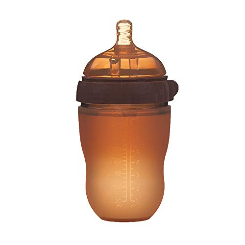 homese Baby Silikon Flasche Anti Colic Air Vent Weithals Natürliche Stillen Flasche Für Neugeborene BPA-frei 250ml -