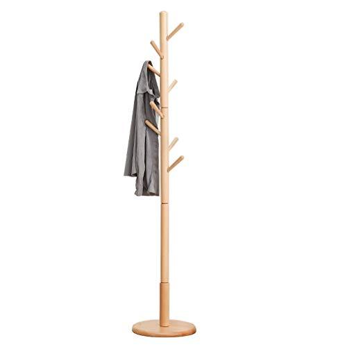 Kleiderständer, Massivholz Abnehmbare Zweig Ständer Single Shot Kleiderbügel Runden Chassis Lager Starke 36 * 176 cm Tingting-kleiderhaken (Color : Wood, Size : 36 * 176cm) -