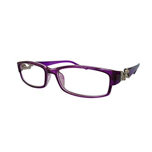 Meijunter Lesebrille Hohe Qualität Helle kristall Mode-Design Brillen Stärke +5.5(purple 3013) (Hell Womens Violett)