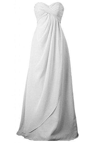 Toscane mariée demoiselle dhonneur tulle simple empire abendkleider ballkleider longueur ferme party Blanc - blanc