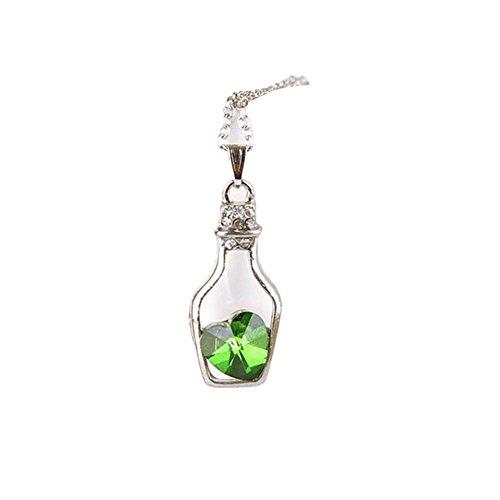 cautpy Mädchen Fashion beliebtes Kristall Handgefertigt Love Drift Flaschen Halskette Großhandel (Handgefertigte Flasche)