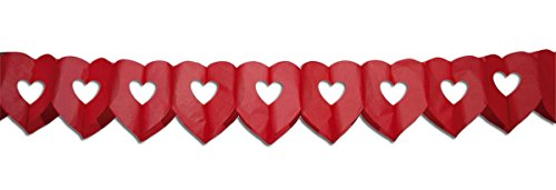 Folat 6m Girlande Doppel Herz Rot