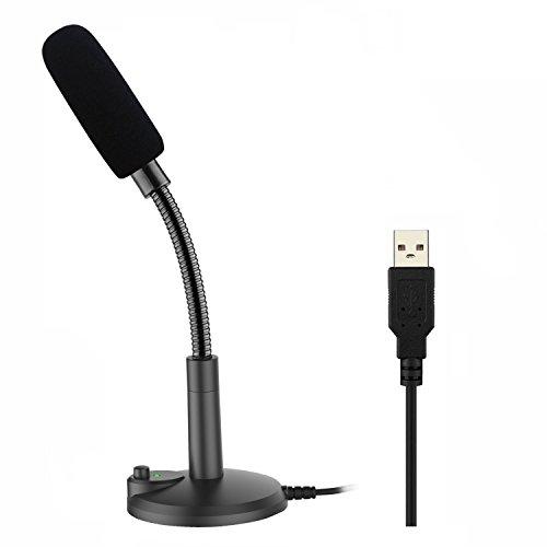 USB PC Mikrofon, ZAFFIRO, podcast mikrofon, für studio, Aufnahmen,Skype,YouTube, mit Ständer und Popschutz (Windows / Mac)