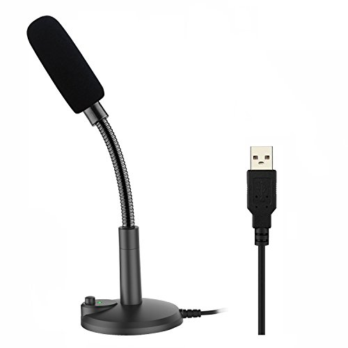 USB PC Mikrofon, Zaffiro, Podcast mikrofon, f¨¹r Studio, Aufnahmen,Skype,YouTube, mit St?nder und Popschutz (Windows / Mac)