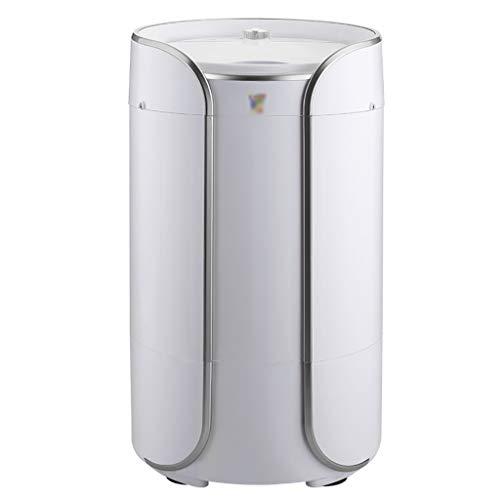 YXWxyj Lavatrici Portatili Mini Lavatrice Domestica di Piccola Dimensione Portatile Lavatrice semiautomatica Lavatrice disidratazione, Lavaggio capacità 3.8KG (Color : Silver)