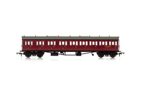 Hornby R4878A BR Collett W6237W-Era 4 - Compuesto de 9 Compartimentos (Mano Izquierda) con Extremo de Arco, 57 pies