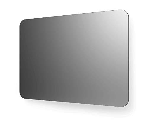 Spiegel ID Crystal Series: KRISTALLSPIEGEL rechteckig mit abgerundeten Ecken - nach Wunschmaß Made in Germany - Auswahl: (Breite) 140 cm x (Höhe) 80 cm