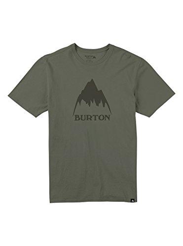 Burton Herren Classic Mountain High T-Shirt, Dusty Olive, M (Print T-shirt Winter Screen)