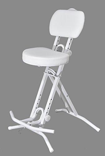 LIBEDOR Stehhilfe Stehhocker Stehsitz Sitz Sitzhilfe Stehstütze Weiß ergonomischer 6 cm Polster...