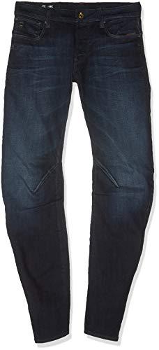 16d5b13f8b9 G-STAR RAW ARC 3D Low Waist Slim Jeans, Negro (dk Aged Dry