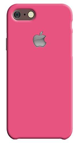 Back cover for Apple iPhone 7 | Designer case |Plain simple deep Pink color with apple logo iPhone 7 case| 3D Premium quality Single color, Matte Finish,Poly-Carbonate hard plastic)