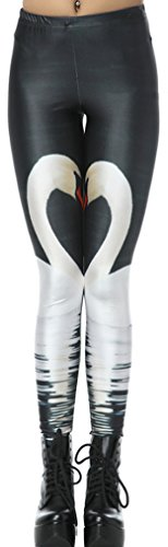 THENICE - Legging - Femme taille unique White Swan