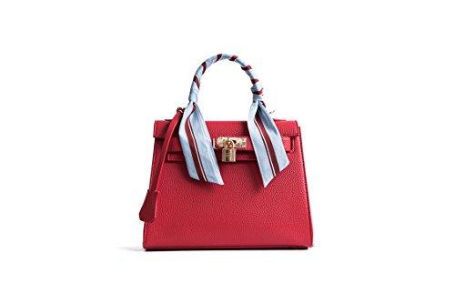 Damen Handtaschen Schulterbeutel Frauen Stilvolle PU Schultertasche Taschen Umhängetasche (Hermes Taschen Handtasche)