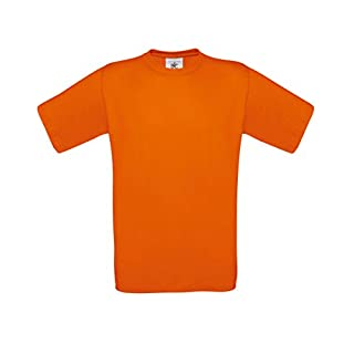 B&C Exact 150 T-Shirt für Männer (L) (Orange) L,Orange