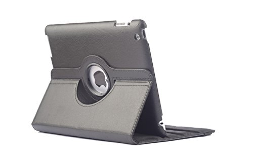 "DNG Universal 360 Rotating PU Leather Stand Case Cover For all 7"" Tablets HP Asus Black"
