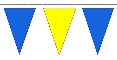 Bleu et jaune Polyester triangulaire fanions 20 m (65 \\