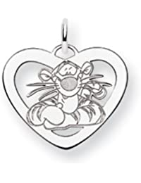 Black Bow Jewellery Company : Disney's Tigger Heart Charm in Sterling Silver